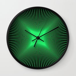 The Emerald Illusion Wall Clock