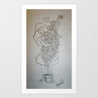 Cannabis Cathy Art Print