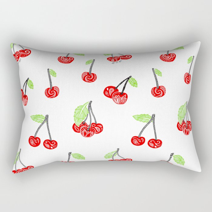 Cherries series Rectangular Pillow