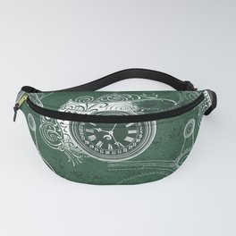 Instruments of Time Neck Gator Clock Gears Vintage Timepieces Fanny Pack