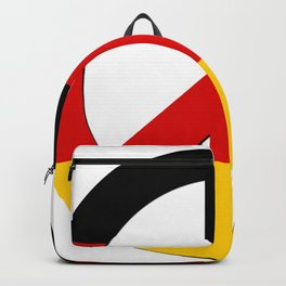 Black Red Yellow German Flag CND Peace Symbol Backpack
