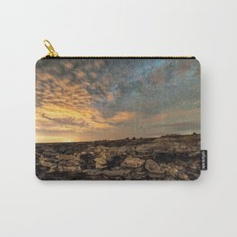 Bisti Badlands Hoodoos Under Bright New Mexico Starry Night by OLena Art Carry-All Pouch