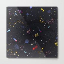 night galaxy Metal Print