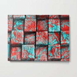 """Kiwi Lifestyle"" - Pohutukawa NZ Bloom Cubism Metal Print"
