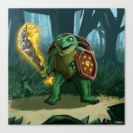Turtle Paladin Canvas Print
