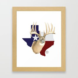Shootat- Texas Buck Framed Art Print