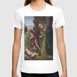 "Sandro Botticelli ""Adoration of Christ with Saint John"" T-shirt"