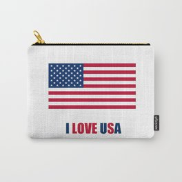 Flag of Usa – I love Usa 2 Carry-All Pouch