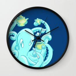 Squiggles: The perfect coffee (dark blue) Wall Clock
