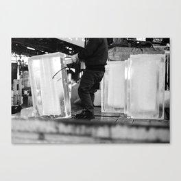 Unloading Ice, Tokyo, Japan Canvas Print