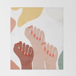 We persist - Girls hands - girlpower  Throw Blanket
