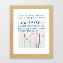 Faith Quote in Color Framed Art Print
