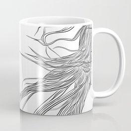 Electric Hair, in transparent/black Coffee Mug