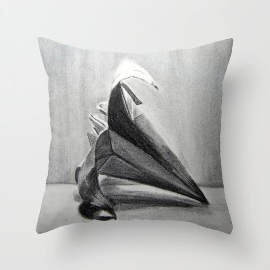 Origami Flower Throw Pillow
