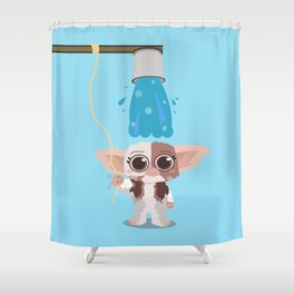 Ice bucket challenge Gizmo Shower Curtain
