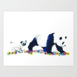 Pug and Panda Art Print
