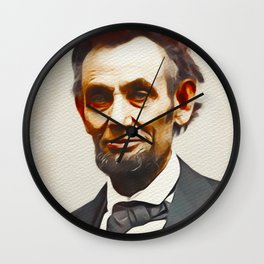 Abraham Lincoln, President of the USA Wall Clock