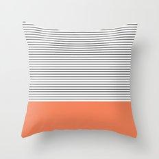 MINIMAL Orange Stripes Throw Pillow