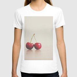a double cherry photograph T-shirt