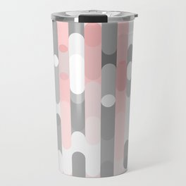 pink and gray round rectangle Travel Mug