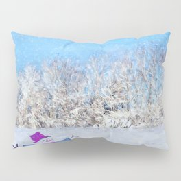 Frosty Season's Greetings Pillow Sham