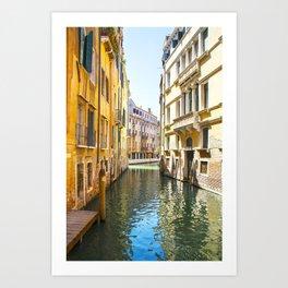 A Gondola Ride through Venice Art Print