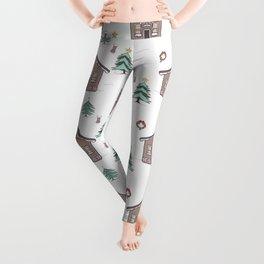 Xmas pattern 3 Leggings