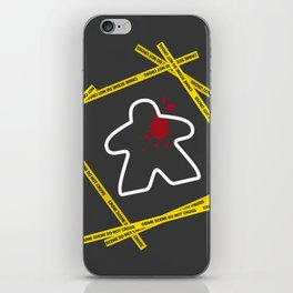 Dead Meeple Crime Scene iPhone Skin