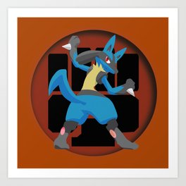 Lucario-Fighting Type Revisited *SPECIAL EDITION* Art Print