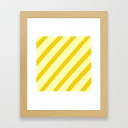 Sunny Stripes Framed Art Print
