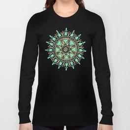 Mint & Gold Mandala Long Sleeve T-shirt