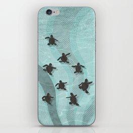 Loggerhead sea turtle hatchlings iPhone Skin