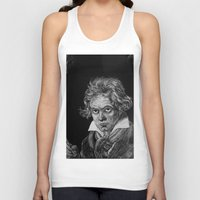 beethoven Tank Tops featuring Beethoven by Sean Villegas
