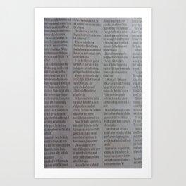 Newpaper Art Print