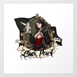 Black Pearl Tattoo Art Print