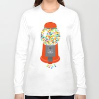 gumball Long Sleeve T-shirts featuring Gumball Machine by Haley Jo Phoenix