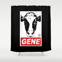 obey Shower Curtains featuring Obey Gene by Ant Atomic