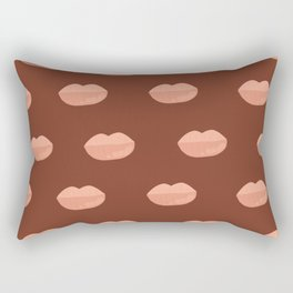 Thick Glossy Kissable Lips pattern Rectangular Pillow
