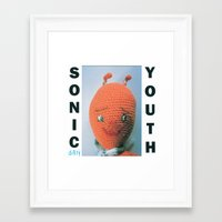 sonic youth Framed Art Prints featuring Sonic Youth - Dirty by NICEALB