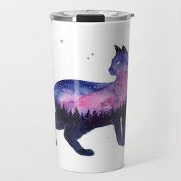 Galaxy Forest Cat Travel Mug