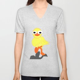 Whacky Bird Unisex V-Neck