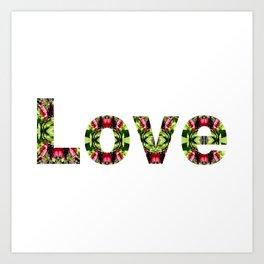 Typography Love Art Print