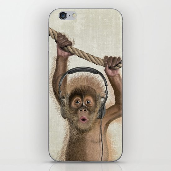 Baby monkey iPhone & iPod Skin
