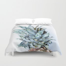 Ananas - Pineapple On A White Background #decor #society6 #buyart Duvet Cover