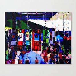 Glass Wind Chimes Canvas Print