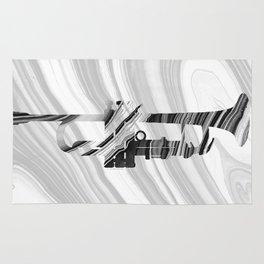 Marbled Music Art - Trumpet - Sharon Cummings Rug