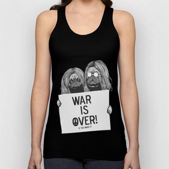 War is over Pugs Unisex Tank Top