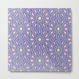 Arabic Tiling Metal Print