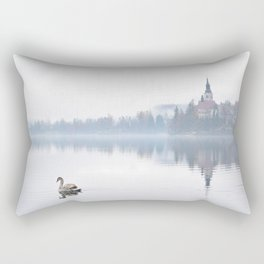 The Mists of Lake Bled Rectangular Pillow