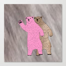 Build A Bigger Bear, Catch a Load of Salmon Canvas Print